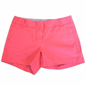 J. Crew Chino Shorts Coral Pink size 2